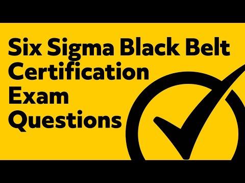 Six Sigma Black Belt Certification (Exam Questions) - YouTube