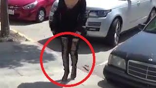 Kim Kardashian Steps Out In Thigh High Lace Up Boots In LA