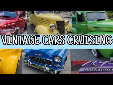 VINTAGE CARS Show/Cruising in Poco CANADA