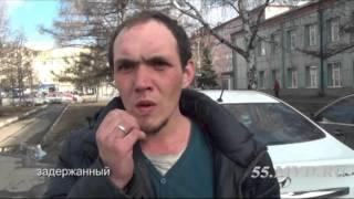 Уличный разбой в Омске. Видео задержания с регистратора.