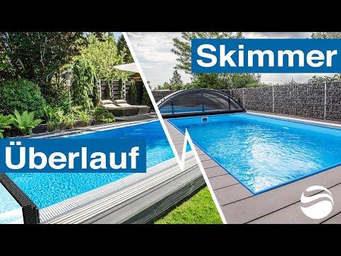 Skimmer-Pool oder Überlauf-Pool? Vorteile, Nachteile und Unterschiede der Becken im Vergleich