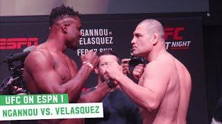 Cain Velasquez vs. Francis Ngannou   UFC on ESPN 1 Ceremonial Weigh-Ins