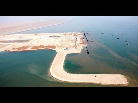 شاهد بالفيديو.. ميناء الفاو والمدينة الاقتصادية والمدينة الساحلية ونسب الأنجاز...