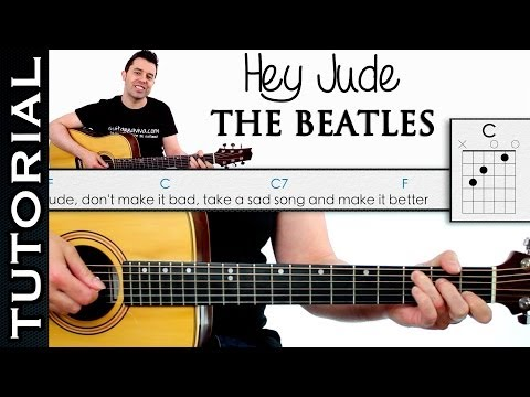 Como Tocar HEY JUDE De THE BEATLES En Guitarra Acordes Tutorial Completo Mp3