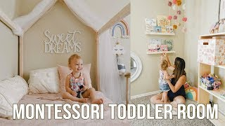 MONTESSORI TODDLER BEDROOM TOUR | DIY PLANS INCLUDED