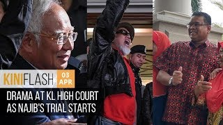 Drama At KL High Court As Najib's Trial Starts | KiniFlash - 3 Apr