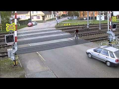 Holy Crap, Watch This Man Narrowly Escape Getting Hit By A Train