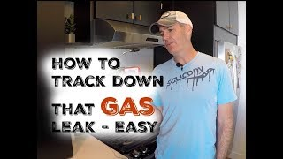 How to track down a small gas leak