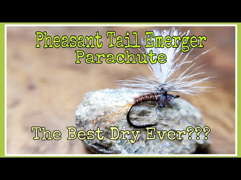 Pheasant tail emerger parachute