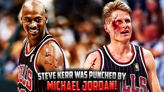 The Time Michael Jordan PUNCHED Steve Kerr In The Face! - Video Youtube