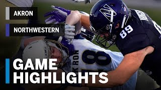 Highlights: Akron vs. Northwestern   Big Ten Football