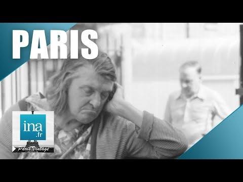 1973 à Paris, les personnes âgées passent leurs vacances dans les squares   Archive INA