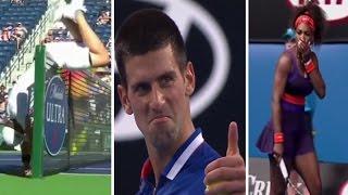 Best funny moments in tennis part 1/лучшие приколы в теннисе часть 1