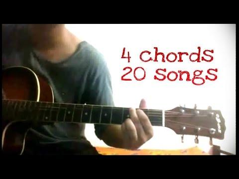 Play 20 Hindi/bollywood songs on guitar using just 4 chords