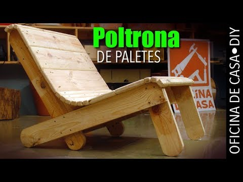Poltrona de madeira de paletes #DIY #oficinadecasa