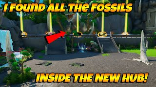 HOW To Find The Fossils In The NEW Fortnite Creative Hub! I FOUND ALL OF SARAHS FOSSILS!