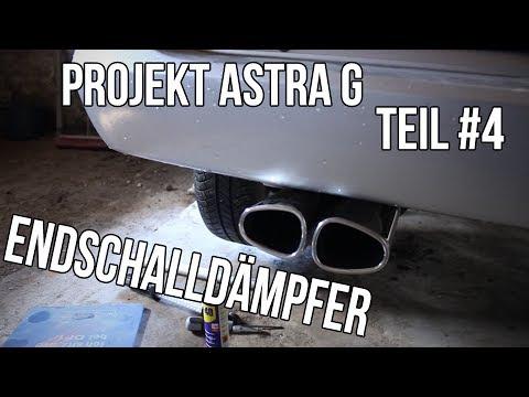 Projekt Astra G Teil #4 | Irmscher Endschalldämpfer [German/Deutsch]