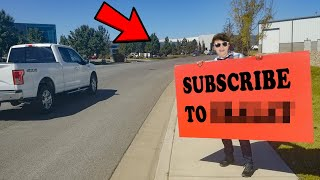 I got 1000 People to Subscribe to a New YouTube Channel Using only a Sign