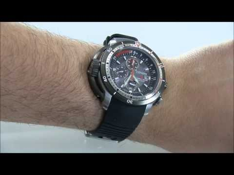 Citizen Eco Drive Promaster Aqualand Depth Meter Chronograph BJ2128-05E Watch Review