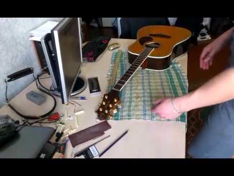 Ремонт гитары своими руками. Нюансы при ремонте. Замена, шлифовка ладов. Высота струн