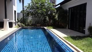 Two Storey Luxury Three Bedroom Pool Villa for Rent in a Peaceful Area of Cherng Talay