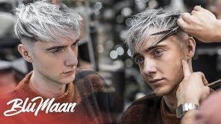 New 2019 Mens Haircut & Hairstyle - Texture Forward Fringe   THIN Hair Tips