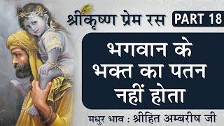 भगवान के भक्त का पतन नहीं होता | Shree Krishna Prem Ras | Part 18 | Shree Hita Ambrish Ji