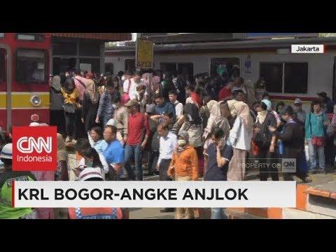 KRL Bogor - Angke Anjlok, Penumpang Terlantar