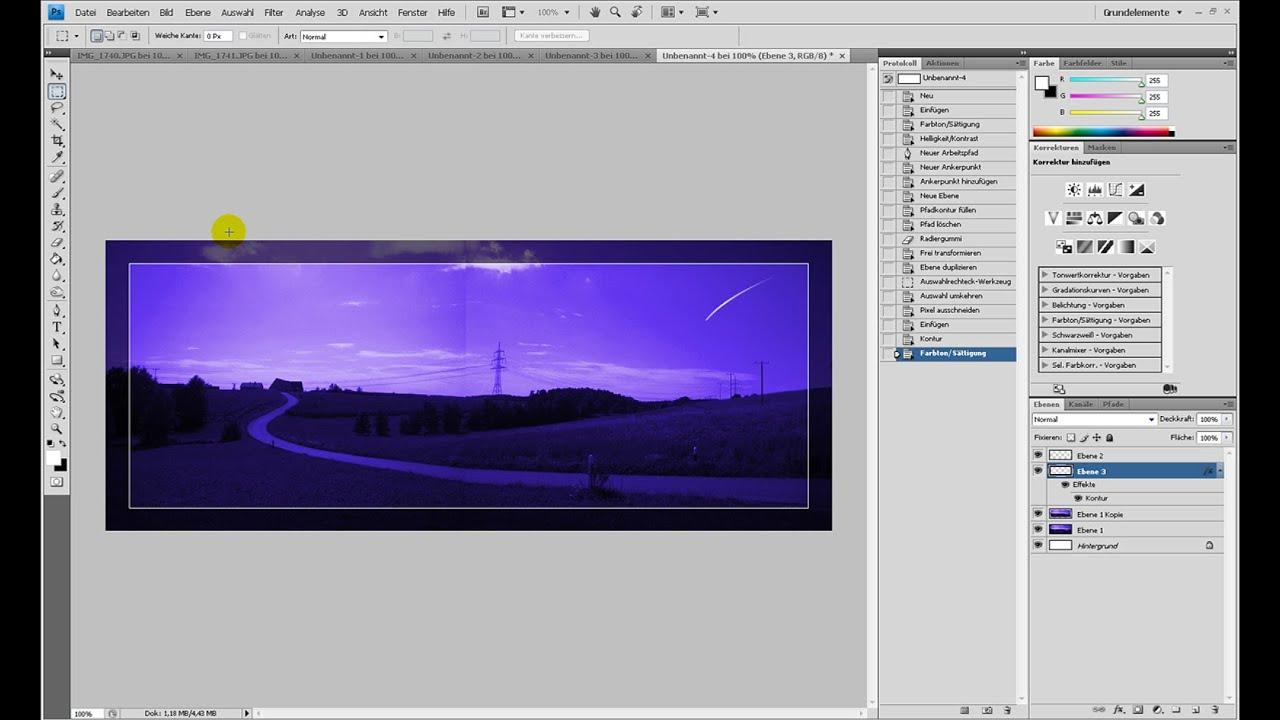 Dämmerungs-Panoramabild – Photoshop-Tutorial