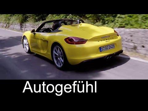 New Porsche Boxster Spyder Sound Driving shots Exterior Interior  - Autogefühl