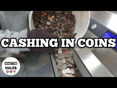 Cashing In A 5 Gallon Bucket of COINS | HOW MUCH DID WE GET? / I Bought An Abandoned Storage Unit