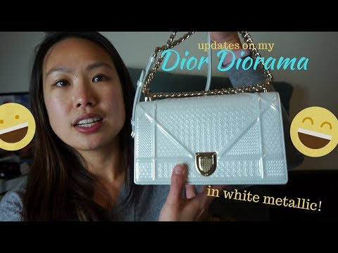 Dior Diorama small white metallic micro-cannage handbag review | life update