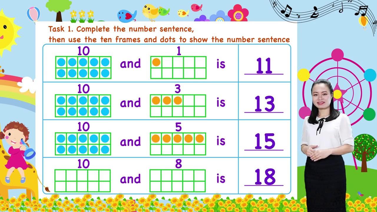 Math For Kids - Lesson 19. Composing Teen Numbers for kids | Kindergarten Screenshot Download