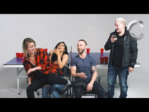 Couples Play Fear Pong - Rashel & Grant and The Amandas