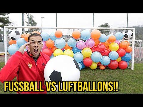 FUSSBALL VS LUFTBALLONS EXPERIMENT!!