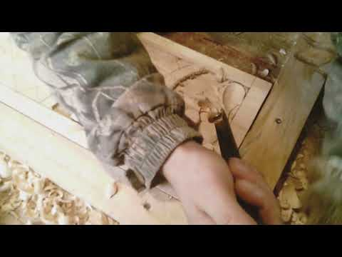Резьба по дереву. Изготовления трона в церковь часть №3.