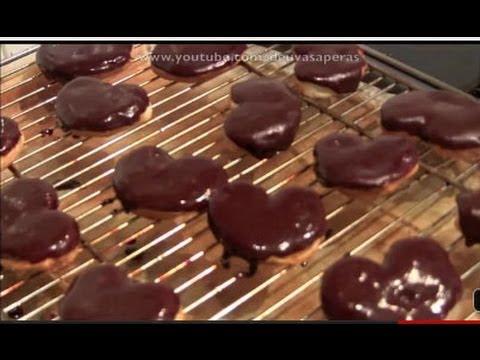 Mini Palmeras de Hojaldre con Glaseado de Chocolate - Dulces Fáciles