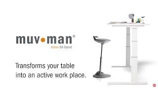 Динамичная стул - опора для работы сидя и стоя MuvMan от компании ErgoLife - видео