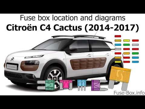 Fuse box location and diagrams     Citroen       C4       Cactus     20142017