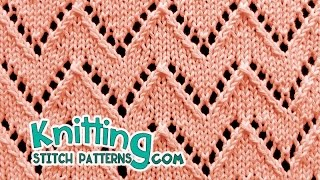 Chevron Stitch | Lace Knitting #21