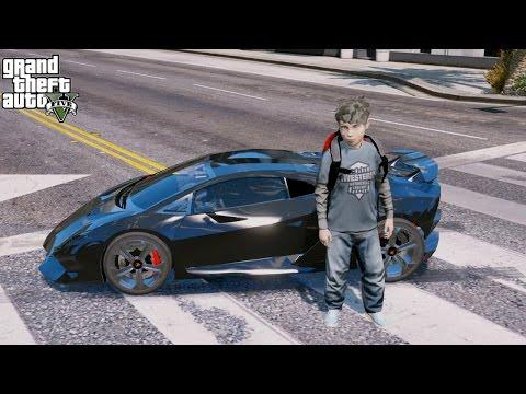 GTA 5 REAL LIFE CHILD MOD#54-NEW LAMBORGHINI SESTO ELEMENTO RC SUPERCAR