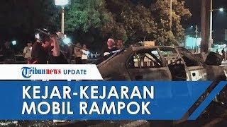 Kejar-Kejaran Mobil Polisi dan Mobil Perampok Layaknya Film Laga di Cirebon
