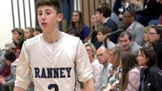 9th Grader Alex Klatsky LIGHTS it UP! 7 Threes, 23 Pts in One Half - Ranney Basketball