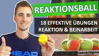 Reaktionsball im Tennistraining - 18 Tennisübungen für Reaktion, Reaktionsschnelligkeit, Beinarbeit