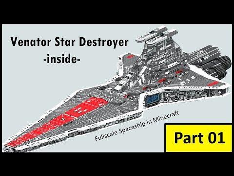 Venator Star Destroyer Star Wars Full Scale Minecraft Project