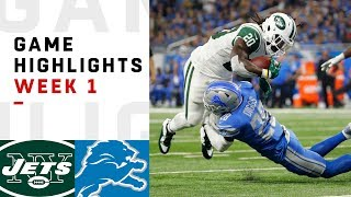 Jets vs. Lions Week 1 Highlights | NFL 2018