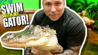 SWIMMING WITH MY PET ALLIGATOR!! | BRIAN BARCZYK