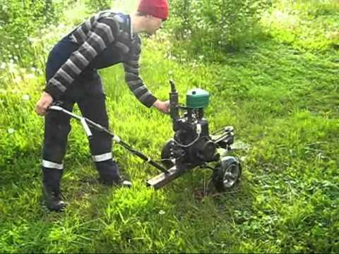 Testing the homemade mower  - смотреть онлайн на Hah Life