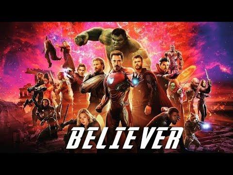 Avengers Infinity War Imagine Dragons Believer