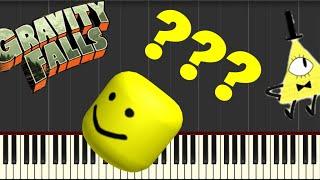 gravity falls theme song piano roblox - TH-Clip